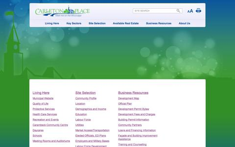 Screenshot of Site Map Page businesscarletonplace.ca - Company Name - Site Map - captured Oct. 27, 2014