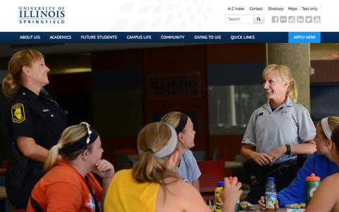 Screenshot of Home Page uis.edu - University of Illinois Springfield – UIS - captured Sept. 5, 2015