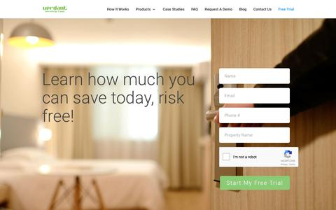 Screenshot of Trial Page verdant.co - Free Trial: Energy Management Thermostat System | Verdant - captured Nov. 13, 2017