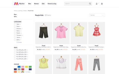 Screenshot of Team Page myntra.com - People Kids - Buy People Kids online in India - captured June 10, 2017