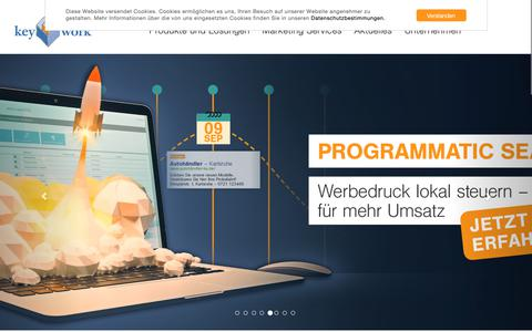 Screenshot of Home Page key-work.de - Key-Work   Data Driven Marketing - captured Oct. 15, 2018