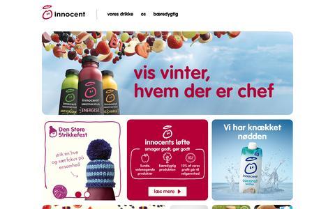Screenshot of Home Page innocentdrinks.dk - Innocent drinks - velkommen til innocent smoothies - captured Jan. 12, 2017