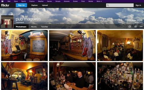 Screenshot of Flickr Page flickr.com - Flickr: maguirespub's Photostream - captured Oct. 27, 2014