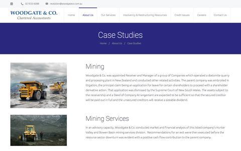 Screenshot of Case Studies Page woodgateco.com.au - Case Studies Woodgate & Co - captured Dec. 5, 2015
