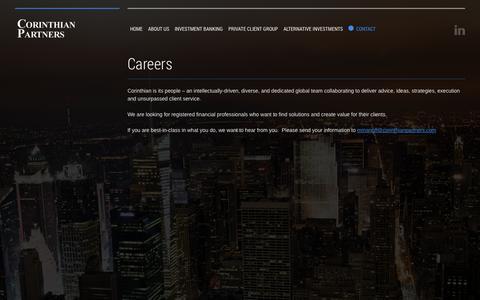 Screenshot of Jobs Page corinthianpartners.com - Corinthian Partners - captured Oct. 3, 2014