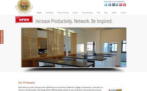 Screenshot of Home Page freerangeoffice.com - Free Range Office - Free Range Office - captured Sept. 30, 2014