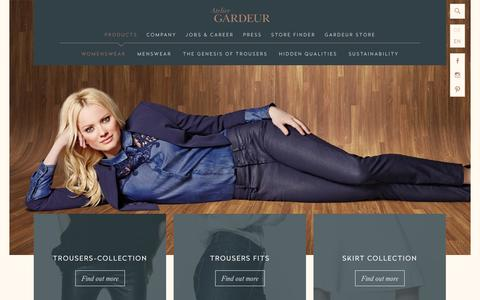 Screenshot of Products Page atelier-gardeur.com - Womenswear - Atelier GARDEUR - captured Nov. 1, 2014