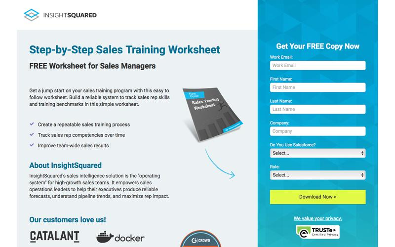 Sales Training Worksheet