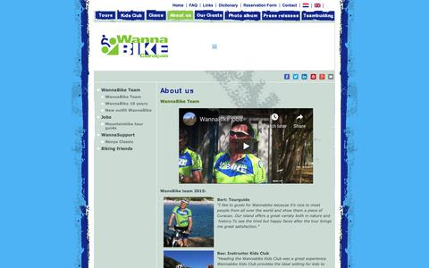 Screenshot of About Page wannabike.com - WannaBike Team | Wannabike Curacao Bike Tours - captured Oct. 19, 2018