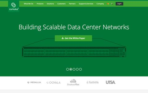 Screenshot of Home Page cumulusnetworks.com - Cumulus Linux   Cumulus Networks - captured Jan. 29, 2016
