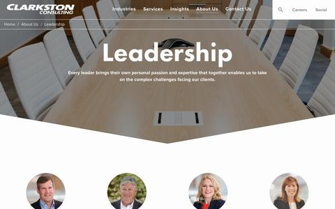 Screenshot of Team Page clarkstonconsulting.com - Consulting Firm Leadership Team | Clarkston Consulting - captured July 18, 2018