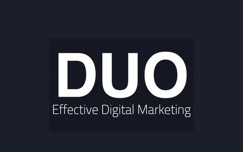 Screenshot of Home Page thisisduo.com - This Is DUO - SEO, PPC, CRO & Email Marketing - captured Jan. 24, 2015