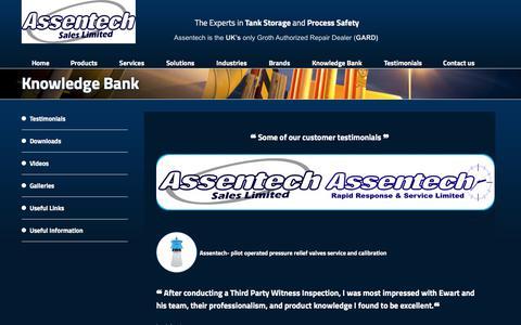 Screenshot of Testimonials Page assentech.co.uk - Testimonials | Assentech - captured Oct. 9, 2017