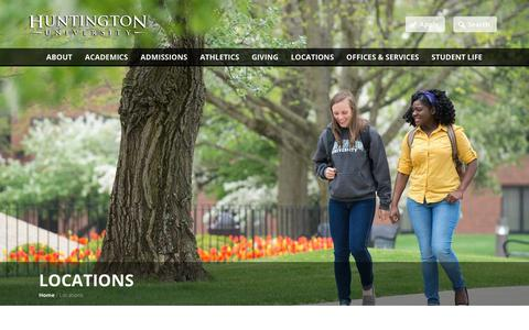 Screenshot of Locations Page huntington.edu - Locations | Huntington University - captured June 22, 2017