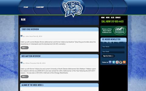 Screenshot of Blog indianaice.com - Blog | Indiana Ice - captured Oct. 6, 2014