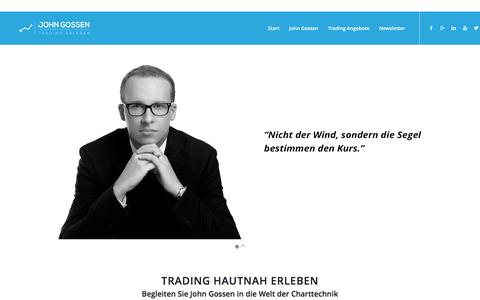 Screenshot of Home Page john-gossen.de - Trading Erleben › John Gossen - captured Nov. 23, 2016