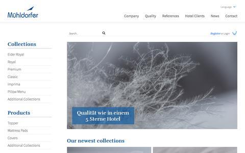 Screenshot of Login Page muehldorfer.com - Mühldorfer »  Onlineshop - captured Sept. 25, 2018