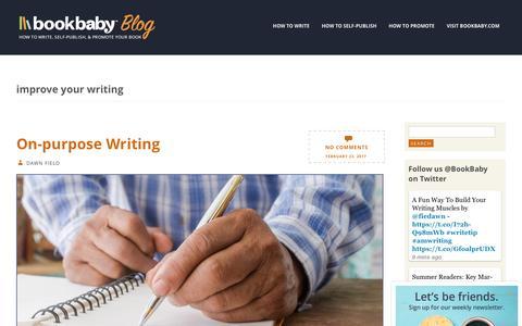 Screenshot of Blog bookbaby.com - improve your writing | BookBaby Blog - captured Feb. 27, 2017