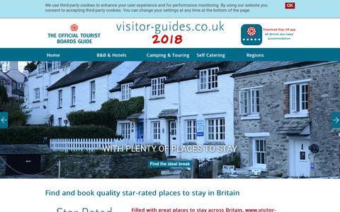 Screenshot of Home Page visitor-guides.co.uk - Visitor Guides - captured Feb. 16, 2018