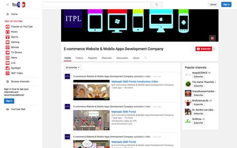 Screenshot of YouTube Page youtube.com - E-commerce Website & Mobile Apps Development Company  - YouTube - captured Nov. 14, 2015