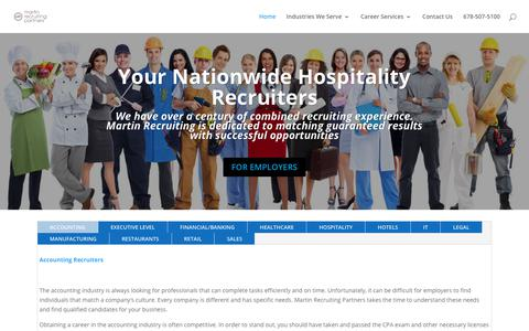 Screenshot of Home Page mrpnow.com - Hospitality Recruiters | Restaurant Management Recruiters | MRP - captured Oct. 16, 2018