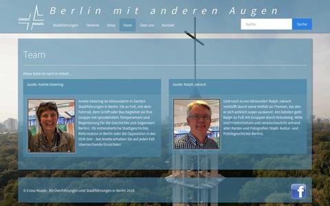 Screenshot of Team Page crossroads-berlin.com - Team – Kirchenführungen und Stadtführungen in Berlin - captured Jan. 31, 2018