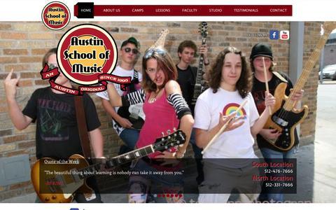 Screenshot of Testimonials Page austinschoolofmusic.com - asmusic - captured Aug. 2, 2015