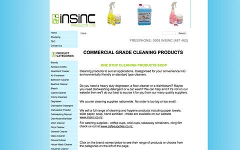 Screenshot of Home Page cleaningproductsnz.co.nz - Cleaning Products - captured Sept. 7, 2015