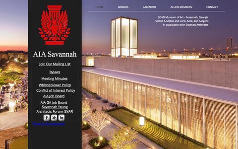 Screenshot of Home Page aiasavannah.org - aiasav - captured Sept. 11, 2015