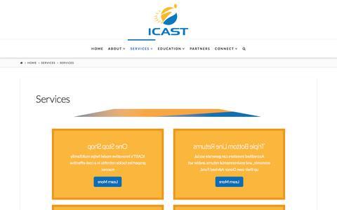 Screenshot of Services Page icastusa.org - Services Offered - Comprehensive Housing Rehabilitation & More - captured Sept. 29, 2017
