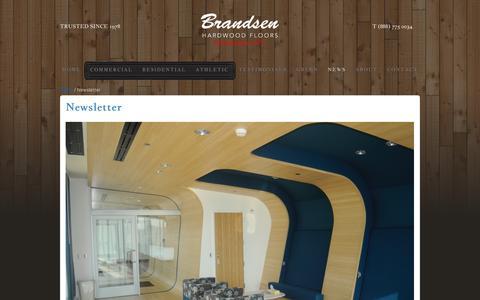 Screenshot of Press Page brandsenhardwood.com - Portland Flooring News   Brandsen Hardwood News - captured Feb. 8, 2016