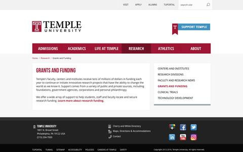 Grants and Funding | Temple University