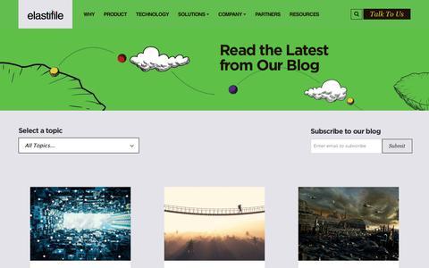 Screenshot of Blog elastifile.com - Blog Landing | Elastifile - captured Dec. 7, 2018
