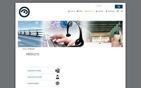Screenshot of Products Page tradesegur.com - Products - TRADESEGUR S.A. - captured Oct. 18, 2018