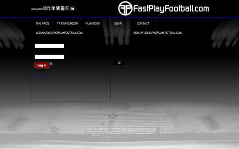Screenshot of Login Page fastplayfootball.com - Login | Fast Play Football - captured Oct. 27, 2014