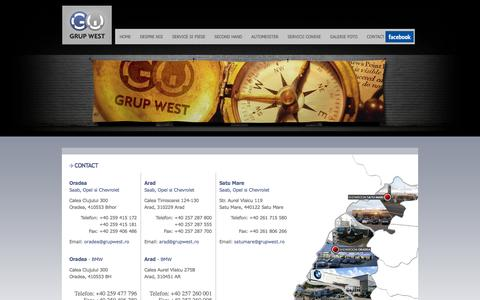 Screenshot of Contact Page grupwest.ro - GRUP WEST ::: Punem vestul in miscare - captured Oct. 3, 2014