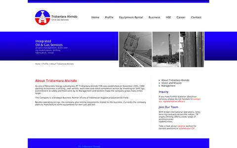 Screenshot of About Page ta-rigs.com - About Tridiantara Alvindo | TA Rigs - captured Oct. 2, 2014