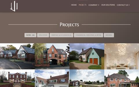 Screenshot of Case Studies Page broadstaff.co.uk - Projects - Broadstaff Construction - captured Nov. 23, 2016
