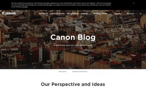 Screenshot of Blog canon-europe.com - Canon blog | Our perspective and ideas - Canon Europe - captured Sept. 22, 2019
