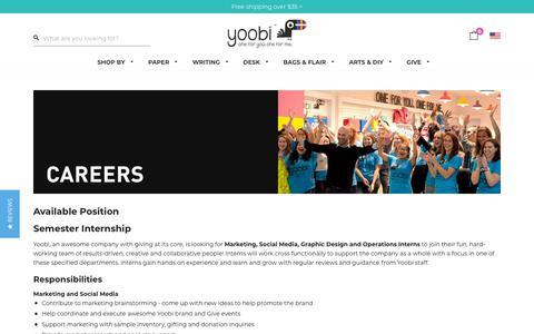 Screenshot of Jobs Page yoobi.com - Careers – Yoobi - captured Oct. 19, 2018