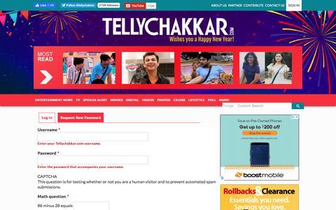 Screenshot of Login Page tellychakkar.com - User account | Tellychakkar.com - captured Jan. 8, 2020