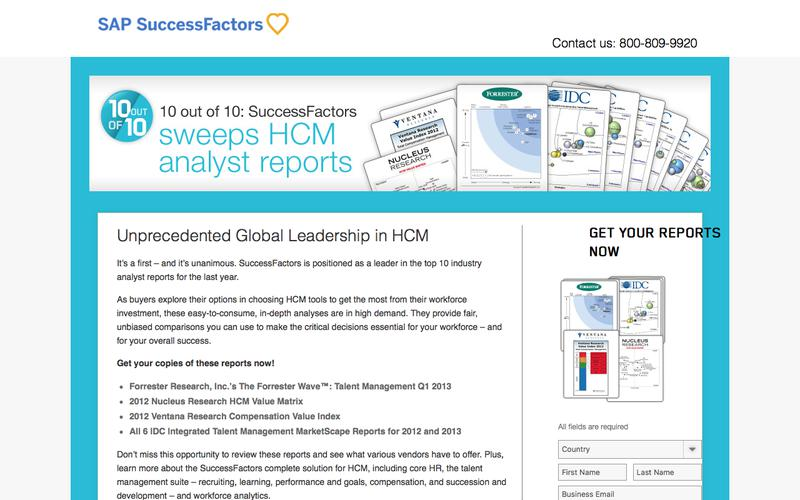 10 out of 10: SuccessFactors sweeps HCM analyst reports