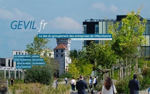 Screenshot of Home Page gevil.fr - Gevil - groupement des entreprises de Villeurbanne - captured Jan. 27, 2015