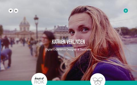 Screenshot of Home Page katrienverlinden.com - Katrien Verlinden - captured July 11, 2018