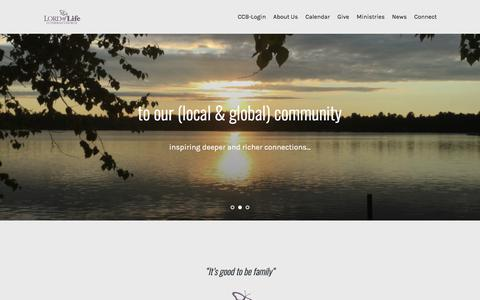 Screenshot of Home Page lolbaxter.org - - Lord of Life - Baxter, Minnesota - captured May 18, 2018