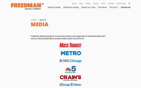 Screenshot of Press Page freedmanseating.com - Media | Freedman Seating Company - captured Oct. 11, 2018