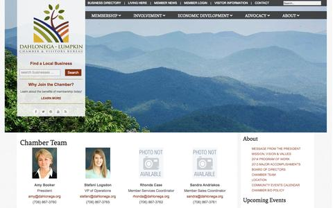 Screenshot of Team Page dahlonega.org - Chamber Team - captured Nov. 3, 2014