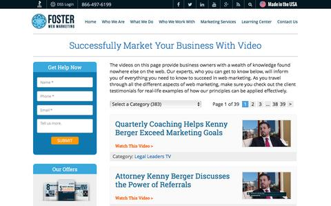 Video Marketing For Lawyers, Doctors and Businesses | Foster Web Marketing