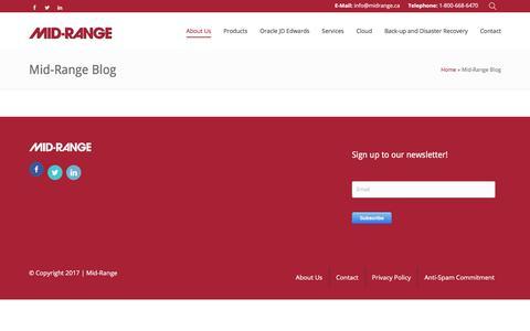 Screenshot of Blog midrange.ca - Mid-Range Blog - Mid-Ranged Managed IT Services - captured Oct. 18, 2017