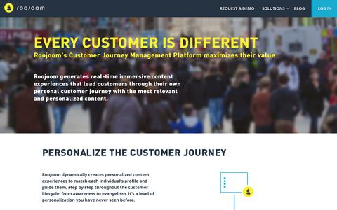 Customer Journey Management Platform - Roojoom